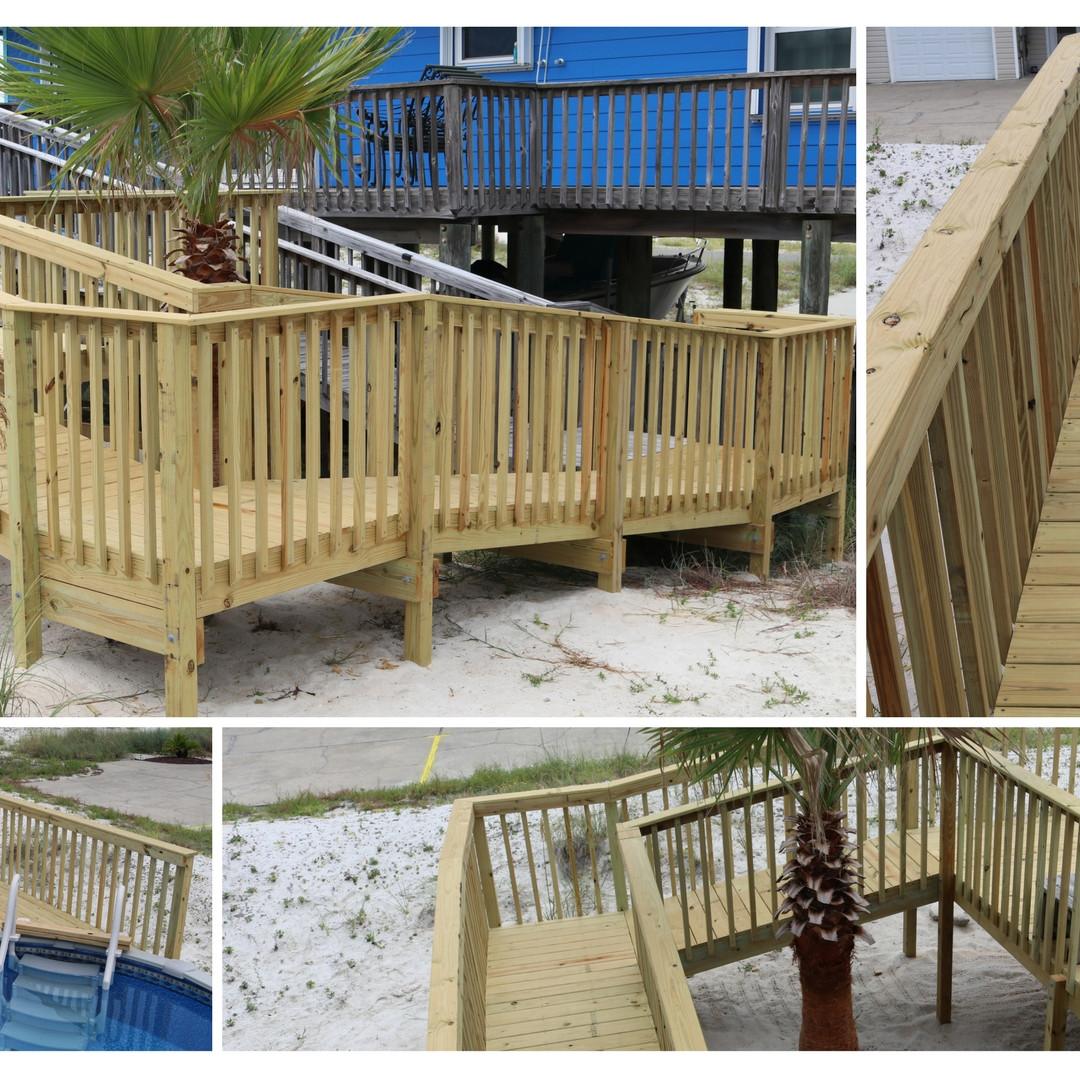 Navarre Beach Deck with Ramp