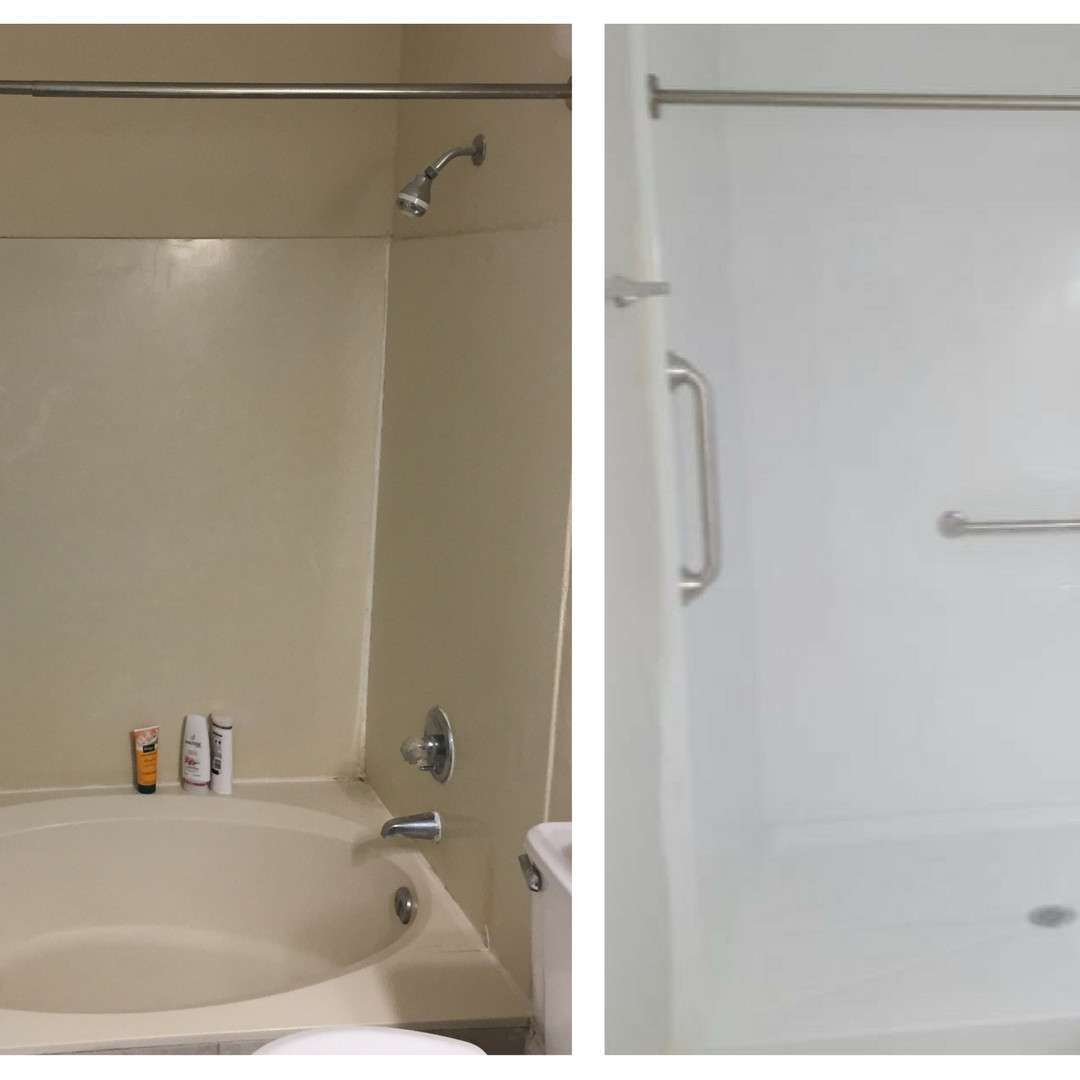 Walk-in Shower with Safety Bars