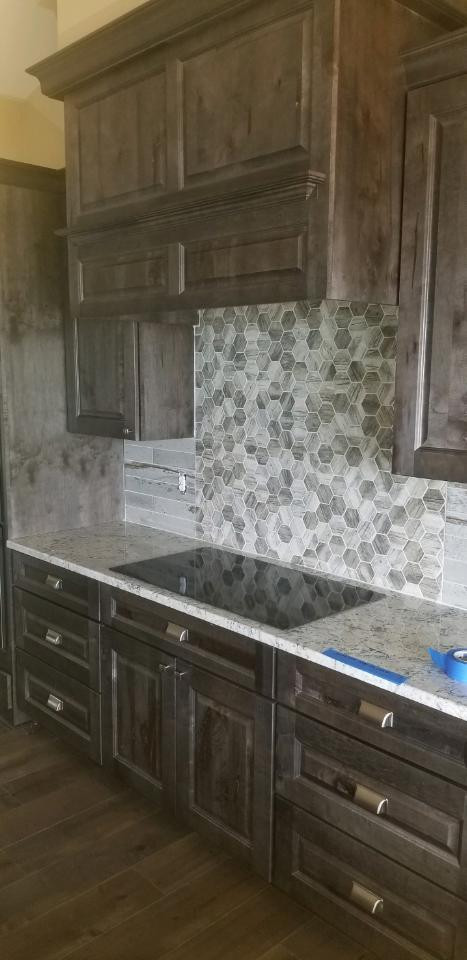 Cooktop Backsplash almost there.