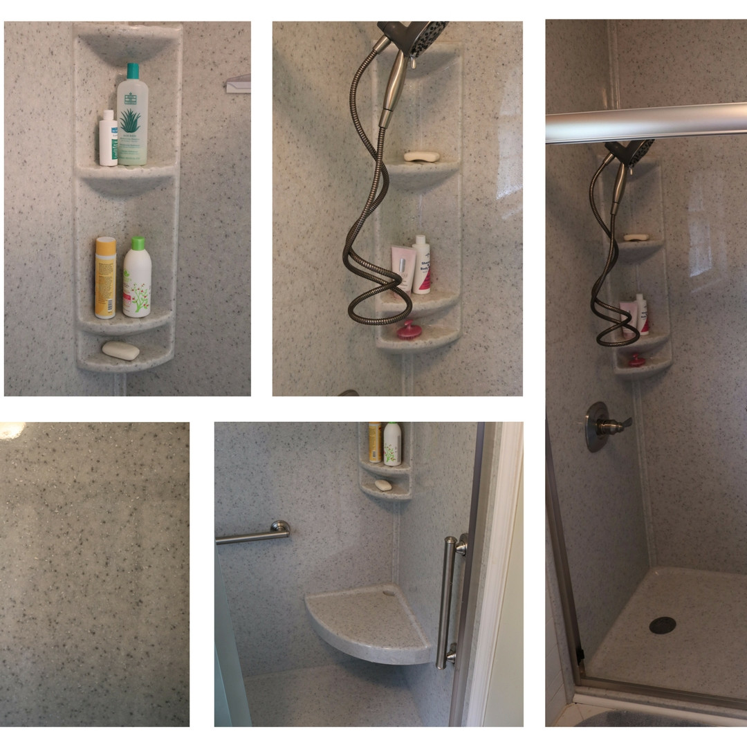 Walk-in Shower with Safety Bars and Seat