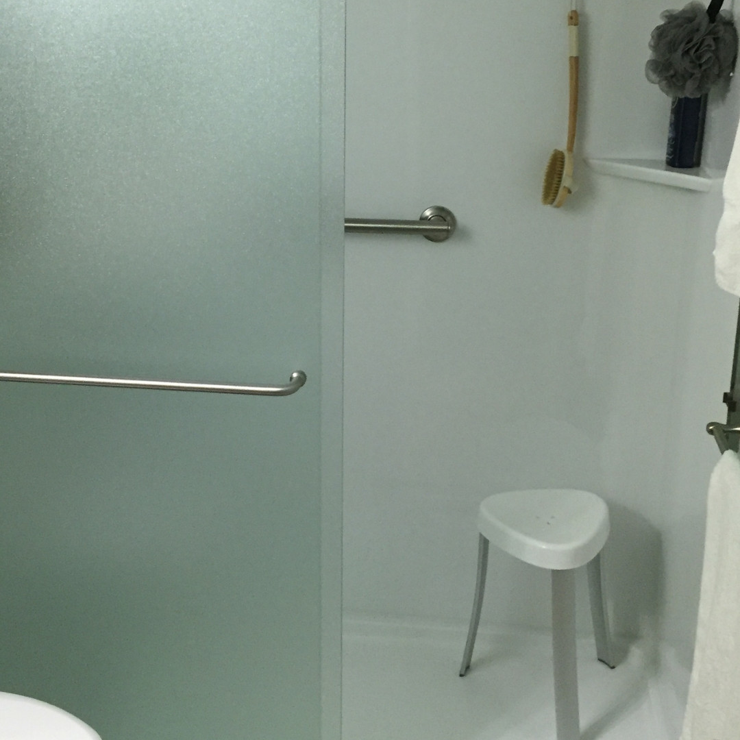 Add on Shower Seat w/ Safety Bar