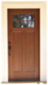 Craftmans Style Exterior Door