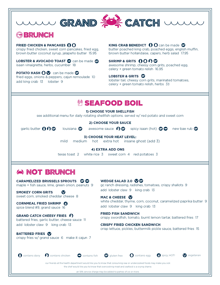 Grand Catch menu brunch Sep 6. 2020 -01.