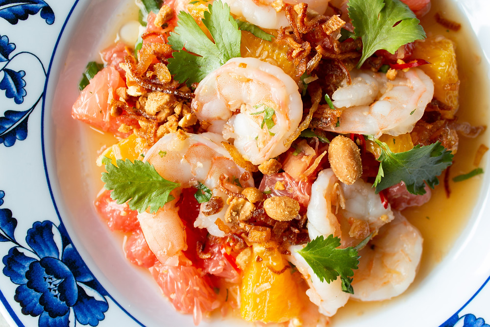 toasted coconut, chilies, crispy shallots, peanuts