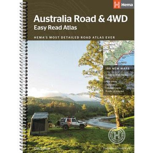 HEMA AUSTRALIA ROAD & 4W EASY READ ATLAS
