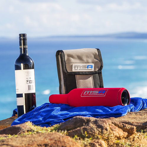 MSA WINE BOTTLE TUBES WITH CANVAS STORAGE BAG