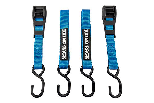 RHINO RACK TIE DOWN STRAPS WITH HOOK (2)