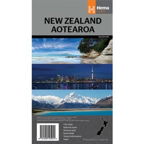 HEMA NEW ZEALAND AOTEAROA MAP