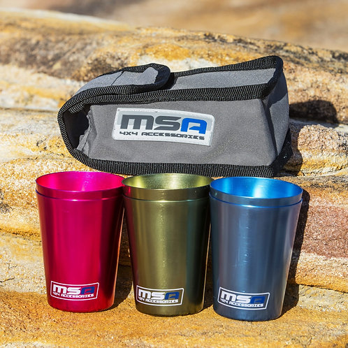 MSA TRAVEL CUP SET OF 6 WITH CANVAS STORAGE BAG