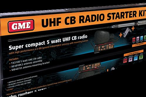 GME TX3100VP UHF Two Way CB Radio Starter Kit