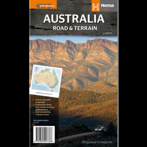 HEMA AUSTRALIA ROAD & TERRAIN MAP