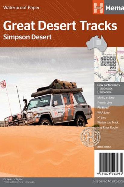 HEMA GREAT DESERT TRACKS SIMPSON DESERT