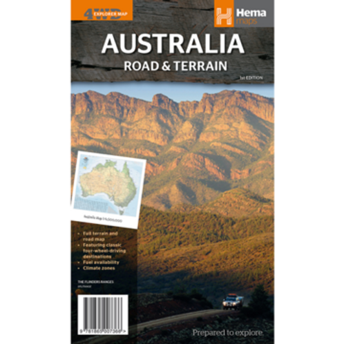 HEMA AUSTRALIA ROAD & TERRAIN MAP