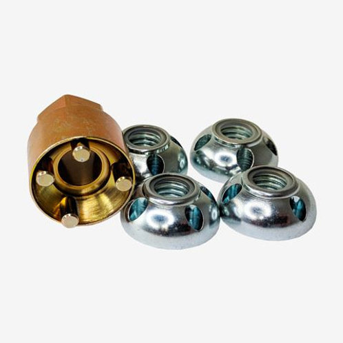 LIGHTFORCE ANTI THEFT SECURITY NUTS FOUR LOCK NUTS