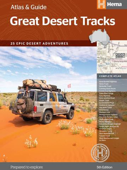 HEMA GREAT DESERT TRACKS ATLAS & GUIDE