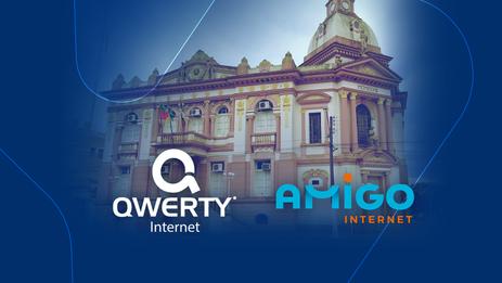 Unificação da Qwerty com Amigo Internet vai permitir quadruplicar a velocidade da internet na região