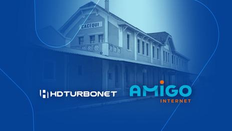 HDTurboNet e Amigo Internet unem forças e trazem novidades e proximidade aos clientes de Cacequi