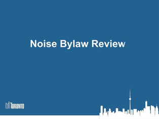 Proposed Noise Bylaw Changes; Make your voices heard; Depute or send your comments! Meeting April 3/
