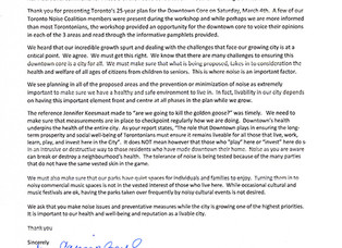 Letter to TOCore Re: Additional comments for Phase 3 of the Public Consultation - Tocore: Planning D