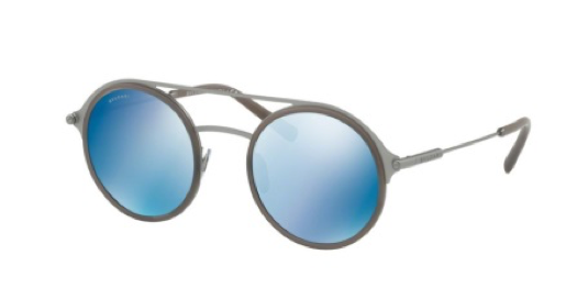 blue double bridged sunglasses with white background