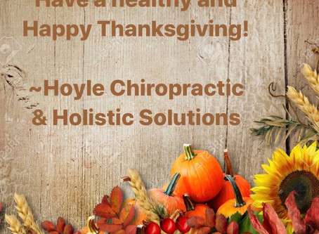 Here's to a Healthy and Happy Thanksgiving!