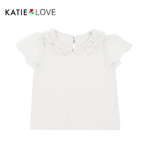 Milk Top with Silk Cotton Collar