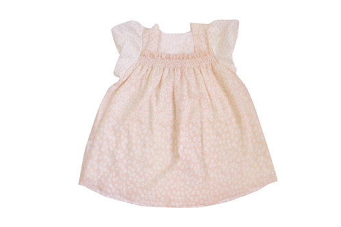 Silk Cotton Smock Floral Dress