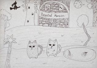 Halloween drawing by Radhika