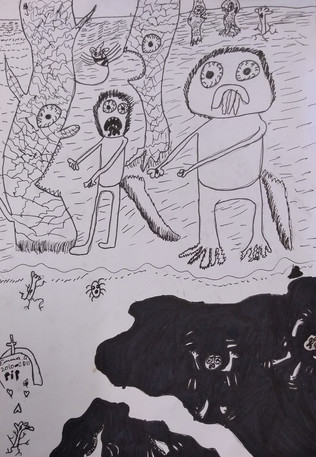 Halloween drawing by Emma G