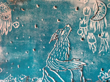Relief printing by Amber