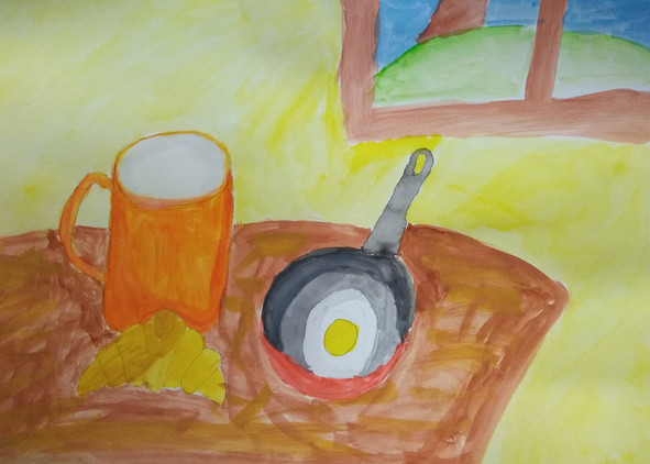 Still Life in Watercolour by Miki