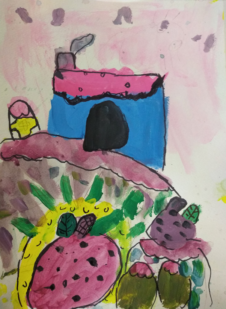 Painting by Poppy