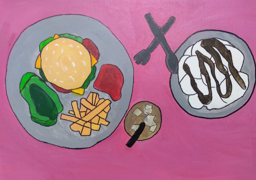 Shapes in food painting by Ava
