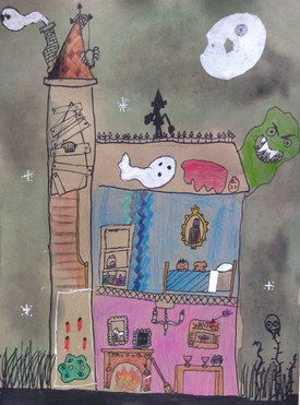 Haunted house by Audrey