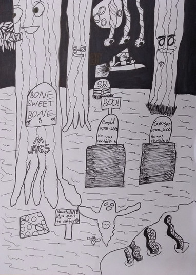 Halloween drawing by James