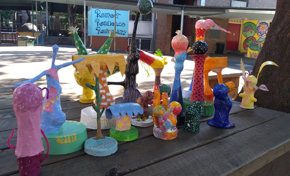 Sculptures by Years 5 and 6 2020