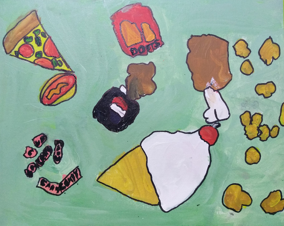 Shapes in food painting by Rhylen