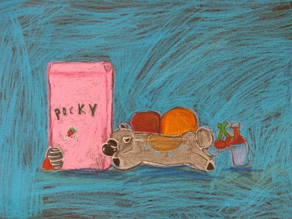 Still Life in Oil Pastels by Nikki