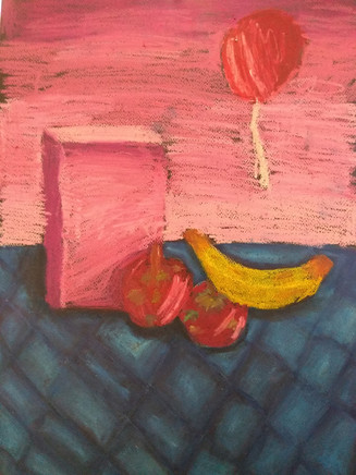 Still Life in Oil Pastels by Charlotte