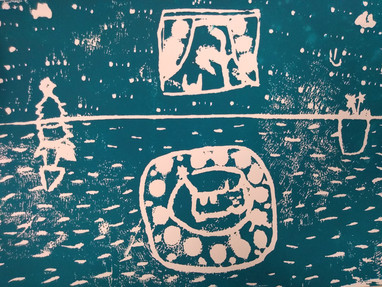 Relief printing by Christine