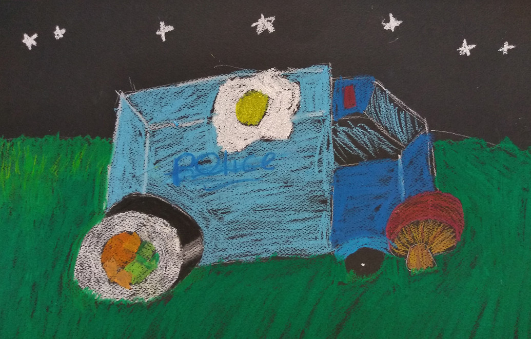 Still Life in Oil Pastels by Amelia