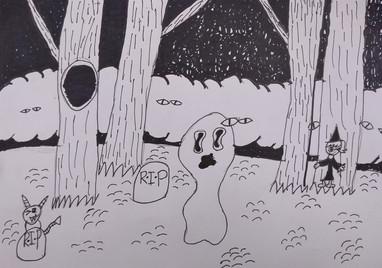 Halloween drawing by Zoe K