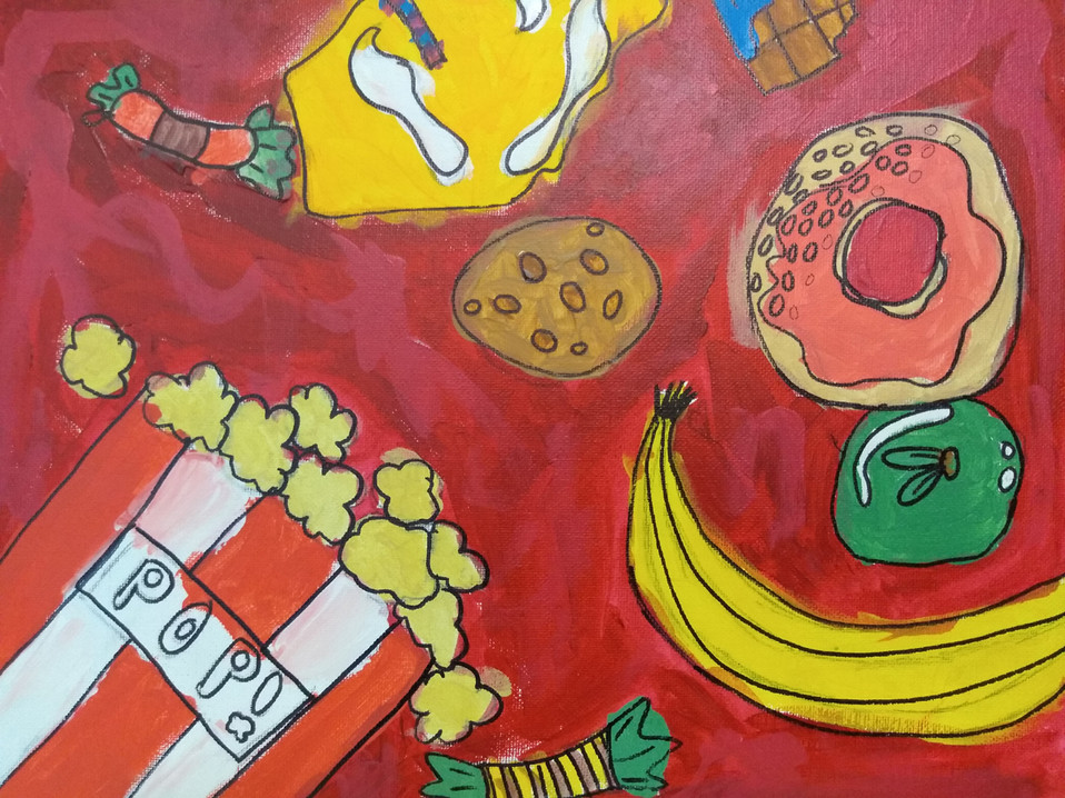 Shapes in food painting by Samara