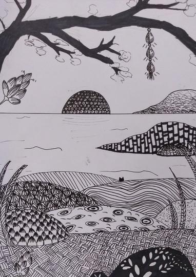 Pattern drawing by Zoe M