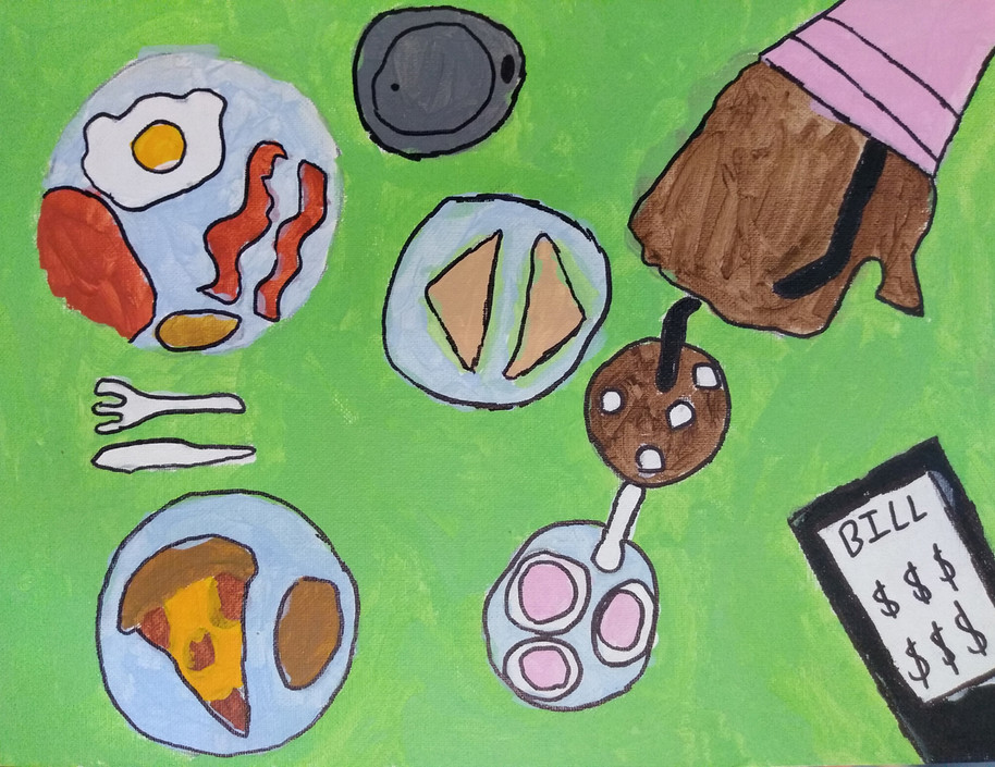 Shapes in food painting by Ilija