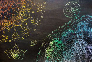 Scratch art by Miki