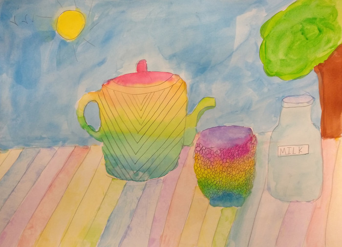 Still Life in Watercolour by Radhika