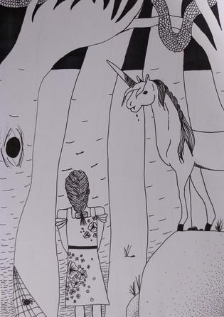 Halloween drawing by Harmina