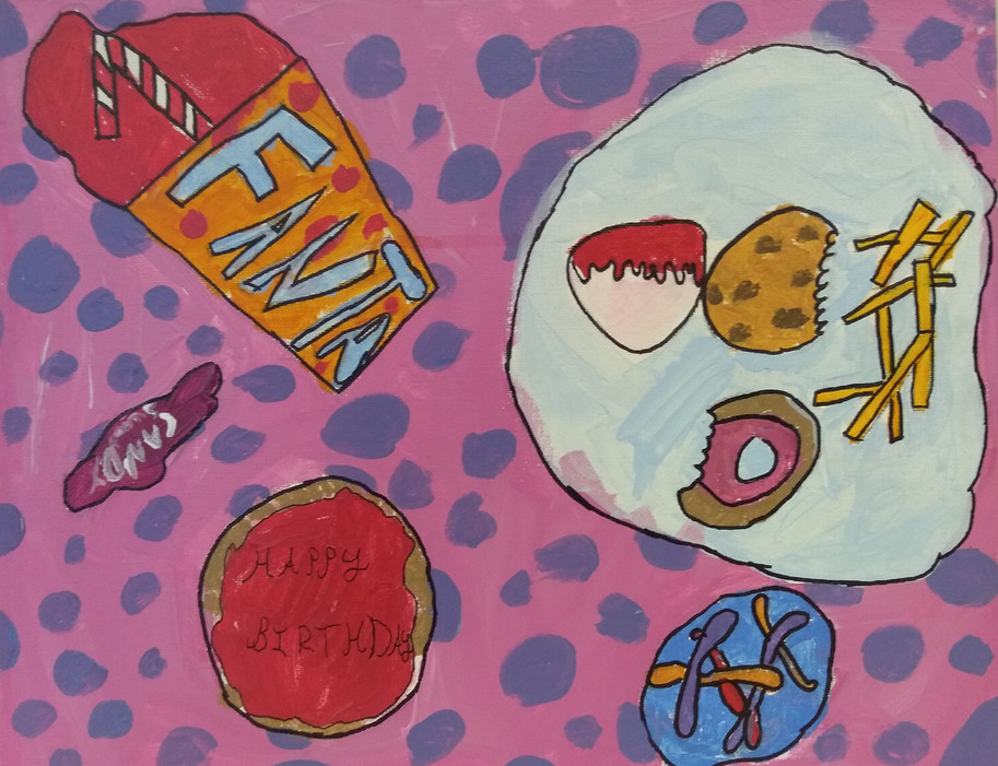 Shapes in food painting by Zoe K
