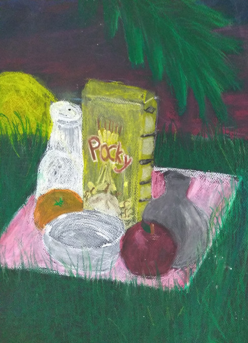 Still Life in Oil Pastels by Zoe